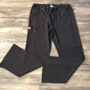 Dickies Black Tall Scrub Pants size Large
